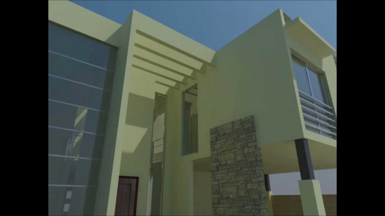 Fachada contempor nea minimalista youtube for Casa minimalista harborview hills