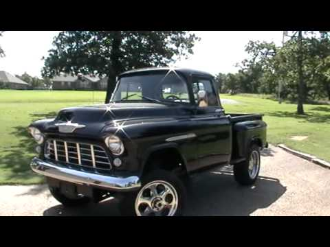 1955 Chevy 3100 truck - 4x4 400ci 8 dual quads Music Videos