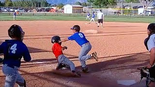 TAGGED IN THE FACE AT HOME PLATE IN BASEBALL GAME!