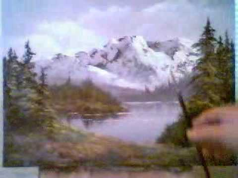 happy little mountain oil painting youtube. Black Bedroom Furniture Sets. Home Design Ideas