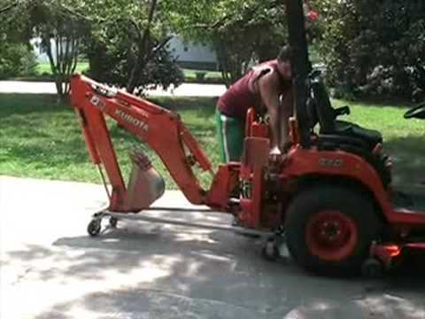 FAST Kubota BX 24 Backhoe Removal on BXpanded Dolly