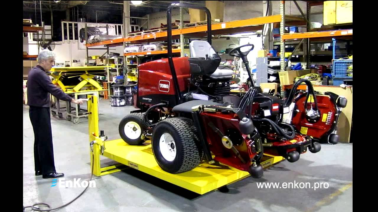Enkon Lawn Mower Assembly Line Scissor Lift Table With Air