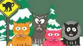 Thumb Gatos cantando villancicos de Navidad animados al estilo South Park