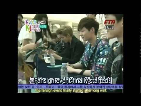(Eng Sub\HD)120515 EXO-M ETN Entertainment Station Fansign event [迷戀EXO-Mania]