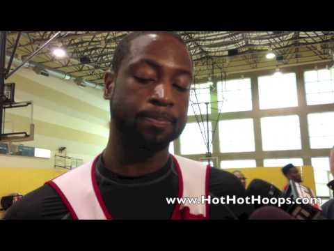 Miami HEAT practice 3-9-13 - Erik Spoelstra, LeBron James and Dwyane Wade media interviews