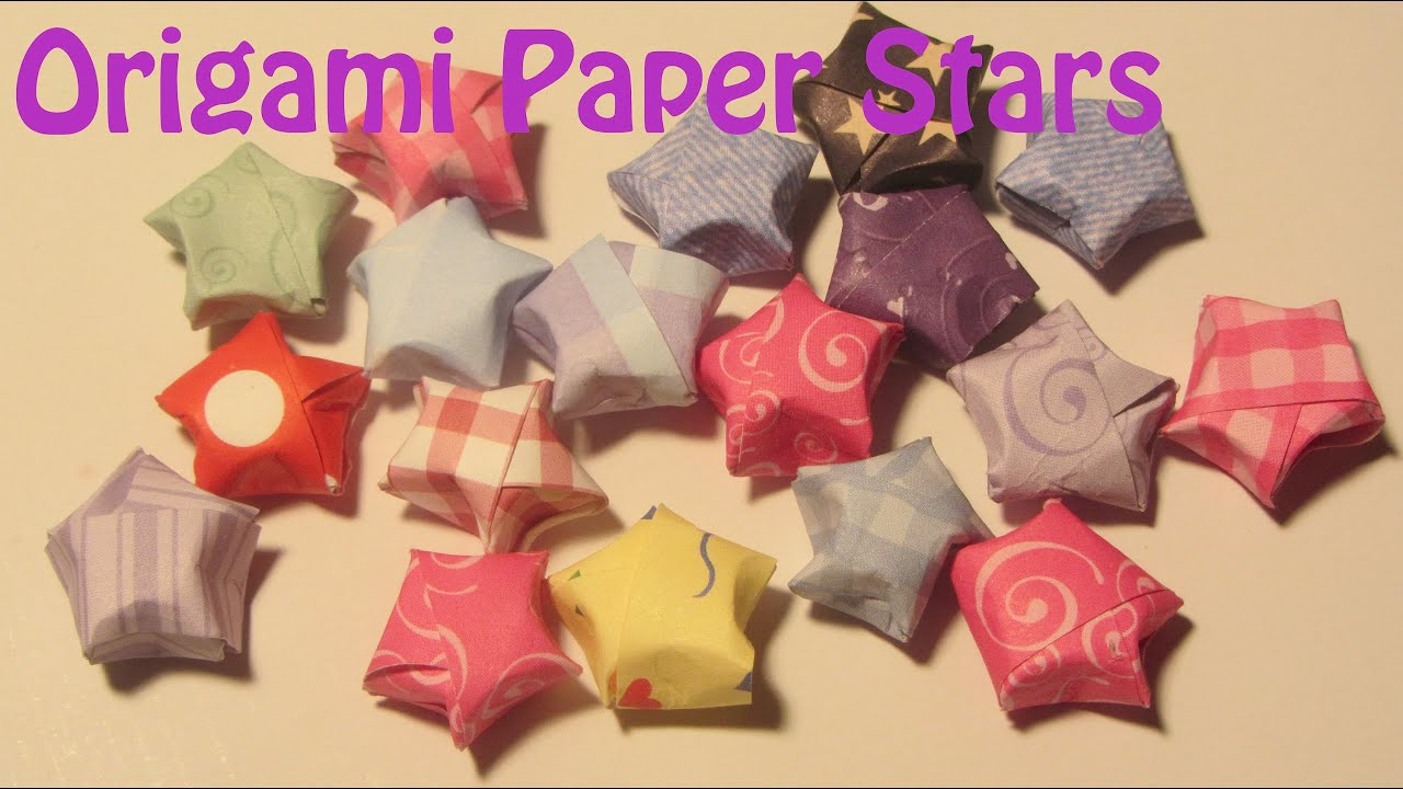 How to make puffed paper stars origami lucky stars craft for How to make lucky paper stars