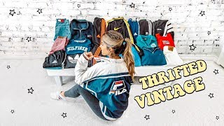 EPIC $200 THRIFT HAUL ☆ TOMMY, LEVIS, FILA, ADIDAS, NIKE (try on)
