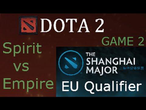 Dota 2 Team Spirit vs Team Empire Shanghai Major  EU Qualifier Game 2