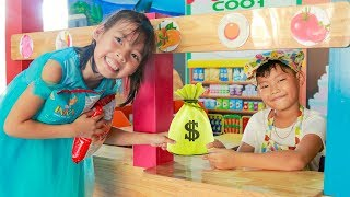 Kids Pretend Learn Sale Delivery Snack & Kids Play Shopping at Indoor Playground