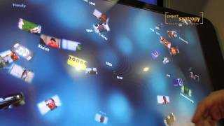 Multitouch-Application for Museum on Polytouch Multitouch-Flatscreen