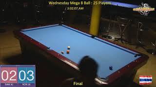 Wednesday Mega 8 Ball Handicap Competition - Megabreak Pool Pattaya : 01/05/19