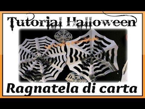DIY: Tutorial Halloween - realizzare una ragnatela di carta  ( Spider Web )