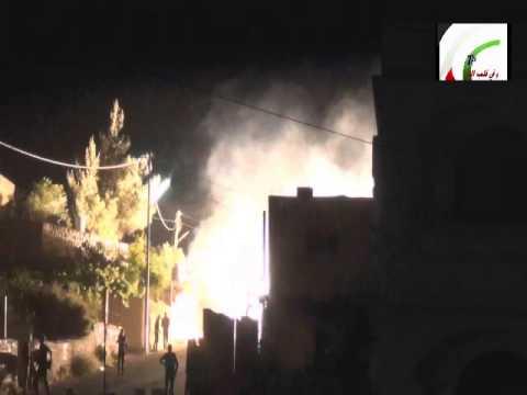 NABI SALEH   النبي صالح  24 4 2014 night