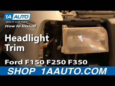 How To Install Replace Headlight Trim Ford F150 F250 F350 92-96 1AAuto.com