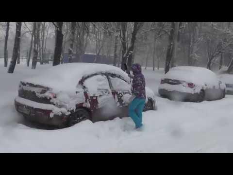Снежный апокалипсис в Москве! Snow Apocalypse in Moscow!) 04.02.2018..