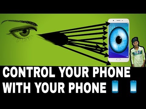 Control smartphone with eye using Eva facial Mouse