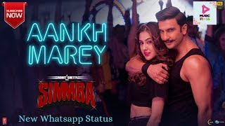 Aankh Marey | Ranveer Singh, Sara Ali Khan || 💕Whatsaap Status Video HD 💕