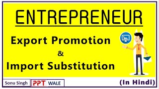ROLE OF ENTREPRENEUR IN EXPORT PROMOTION & IMPORT SUBSTITUTION IN HINDI | BBA/MBA/Bcom | ppt