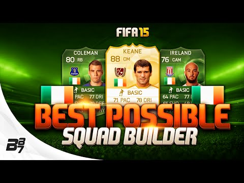 FIFA 15 | BEST POSSIBLE IRELAND SQUAD BUILDER w/ LEGEND ROY KEANE