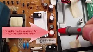 PHILIPS 22PFL3507H/12 LED TV Repair no led power