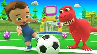Colors for Children to Learn with Little Baby Fun Play ColorBalls Golf Dinosaur 3D for Kids Toddlers