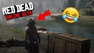 Red Dead Online Funny Moments #8 W/Zyrian! - Funny Fails + Bungie Jumping!