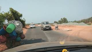 Maruthi 800 Being Towed Off From The Road On Mapusa -Porvorim Road