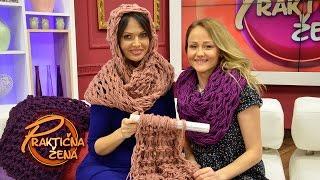 Praktična žena - Pletenje šala rukama