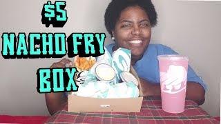 TACO BELL NACHO FRY BOX MUKBANG | KE KAN EAT
