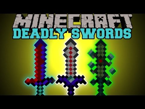 Minecraft : DEADLY SWORDS BETTER SWORDS SPECIAL ENCHANTMENTS More Swords Mod Showcase