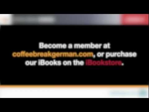 Coffee Break German Lesson 01 (Free audio version)