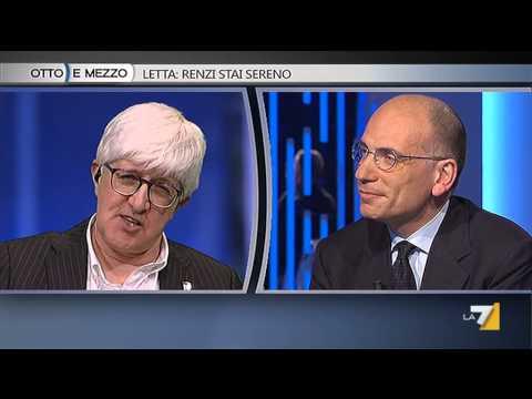 Otto e mezzo - Letta: Renzi stai sereno (Puntata 27/04/2015)