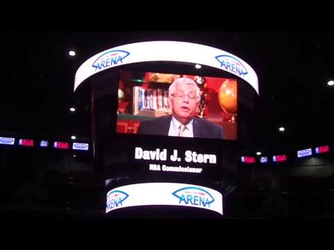 NBA Comissioner David Stern announced the NBA Preseason Game 2013