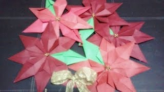 Navidad: Corona De Noche Buena Origami