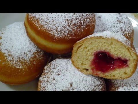 Выпечка!Что испечь к чаю! Вкусные пышки- пончики с джемом!