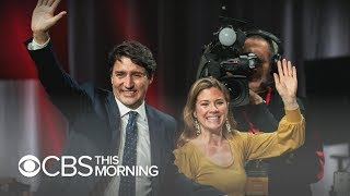 Canadian Prime Minister Justin Trudeau wins second term