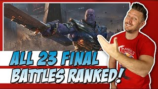 All 23 MCU Final Battles Ranked!  (w/ Endgame & Far From Home)