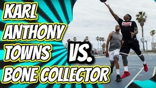 Karl Anthony Towns vs. Bone Collector at Venice Beach with Exclusive Interview