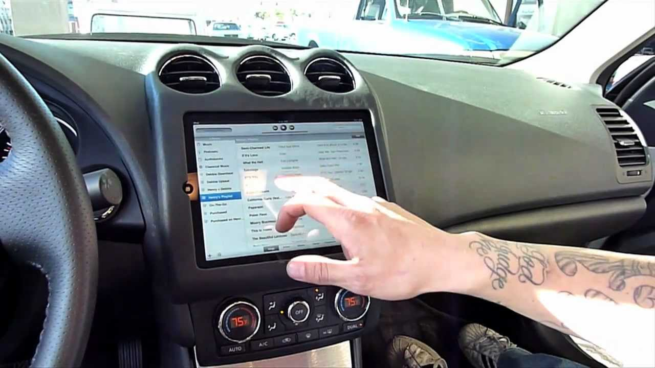 Amplified Ipad Nissan Altima Finished Ipad Chevy Truck