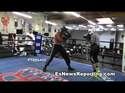 eddie alicea sparring at robert garcia boxing academy Image 1