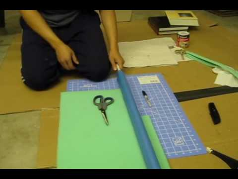How to build a foam / latex katana style sword Tutorial part 5 of 8