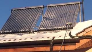 Воздушный солнечный коллектор зима своими руками