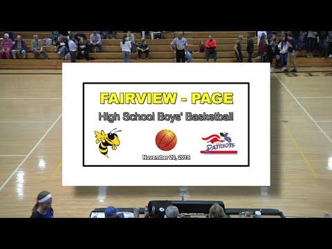 2015 11 20 FVHS SPORT Basketball Boys vs Page