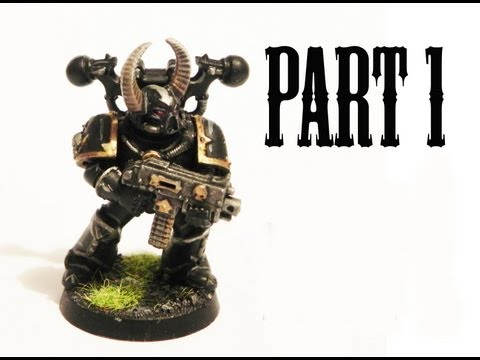 How to paint Black legion Chaos Space Marines pt.1