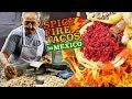 SPICY FIRE Dip Tacos & BEST Street Tacos in Morelia Mexico