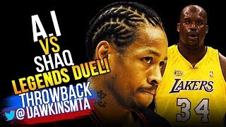 Allen Iverson vs Shaquille O'Neal LEGENDS Duel 2001 Finals G1 - Sha'q with 44 Pts, A.I With 48 Pts!