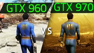 FallOut 4 UNLOCKED FPS GTX 960 vs GTX 970 GAMEPLAY
