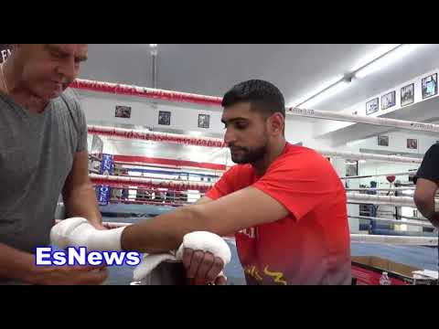 Boxing Superstar Amir Khan Less Than 4 Weeks Out From Fight night EsNews Boxing