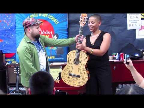 Monte Pittman /Little Kids Rock at Belvedere Middle School 1/27/11.mov