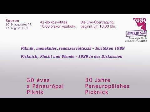 30 éves a Páneurópai Piknik. Az élő közvetítés 10:00 órakor kezdődik